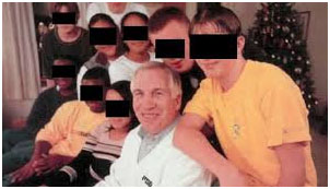 Jerry Sandusky with some boys from The 2nd Mile