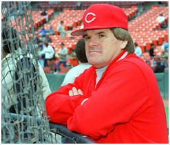 Pete Rose managing the Reds