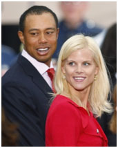 Tiger Woods with his wife